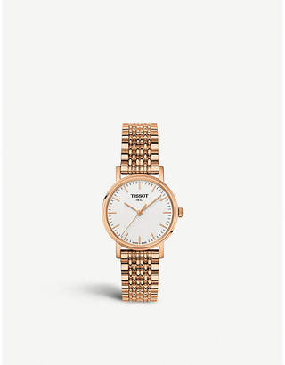 Tissot T1092103303100 Everytime rose-gold plated stainless steel quartz watch