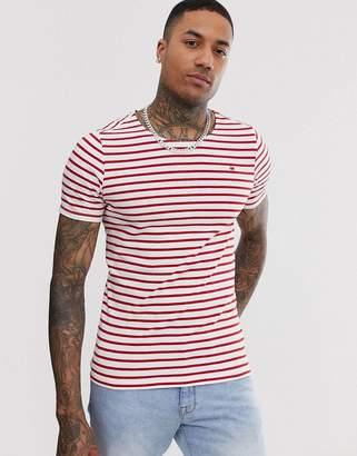 G Star G-Star Xartto stripe t-shirt in red