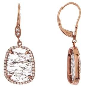 Meira T 14K Yellow Gold Rutilated Quartz & Diamond Drop Earrings
