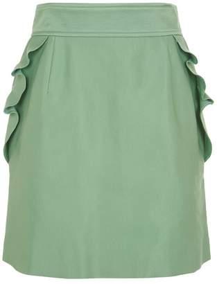 Sandro Ruffle Mini Skirt
