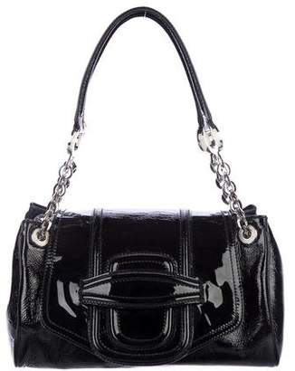 Oscar de la Renta Patent Leather Shoulder Bag