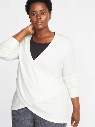 Old Navy Relaxed Plus-Size Surplice-Front Sweatshirt