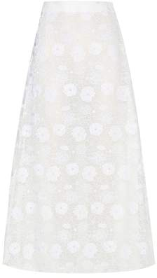 Giamba Embroidered midi skirt
