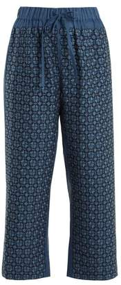 Vita Kin - Strawberry Field Mid Weight Linen Trousers - Womens - Blue