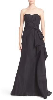 Carolina Herrera Nordstrom x Bow Detail Strapless Silk Faille Gown