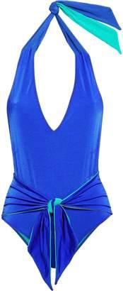 Stella McCartney Two-tone Halterneck Swimsuit