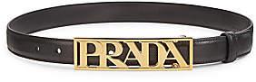 Prada Men's Logo Belt