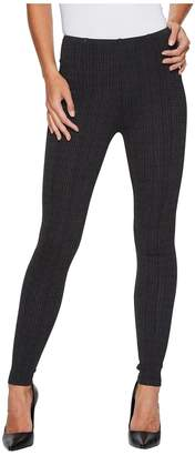 Liverpool Reese Ankle Leggings with Slimming Waist Panel in Texture Houndstooth Ponte Knit in Magnet Women's Jeans