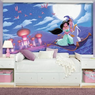 "Mural Roommates Disney Aladdin ""A Whole New World"" XL 7-piece Wall Decal"