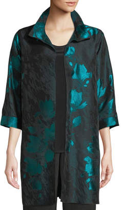 Caroline Rose Midnight Garden Jacquard Topper Jacket, Plus Size