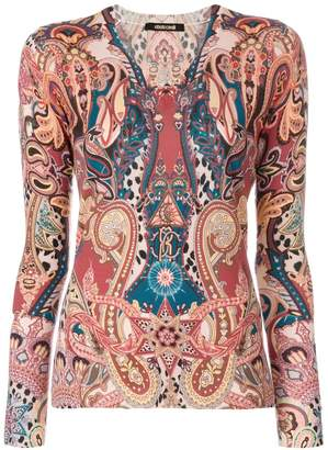 Roberto Cavalli printed knit top
