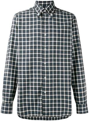 Barba longsleeved check shirt