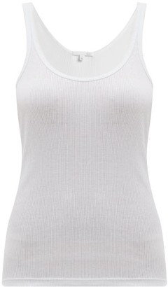 Skin - Rasia Cotton Jersey Pyjama Tank Top - Womens - White