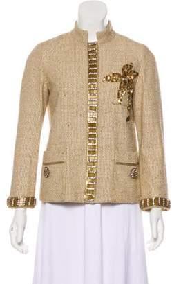 Marc Jacobs Embellished Tweed Jacket Tan Embellished Tweed Jacket
