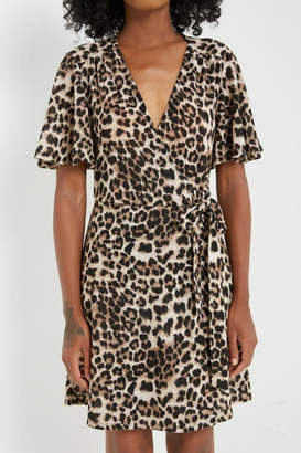 Mai Tai Leopard-Print Surplice Dress