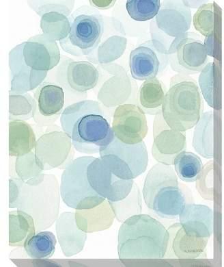 Art Classics LTD. Sea Glass Diamond I Unframed Wall Canvas Art - (24X30)