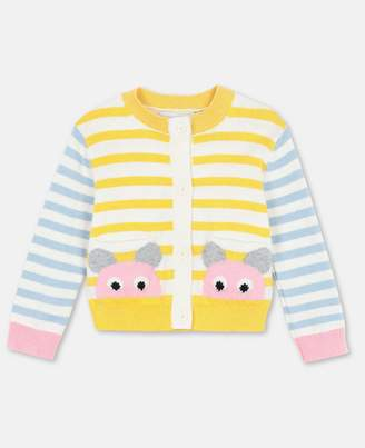 Stella McCartney Mouse Cotton-Wool Cardigan, Unisex