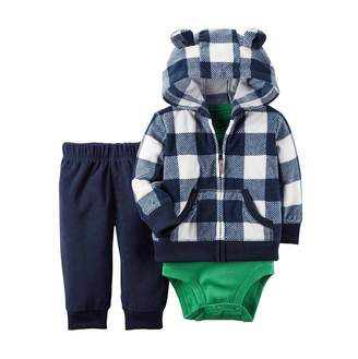 Carter's Boy's Newborn and Infant 3 Piece Oufit Set-Jacket/Vest, Bodysuit, Pants (18M, )