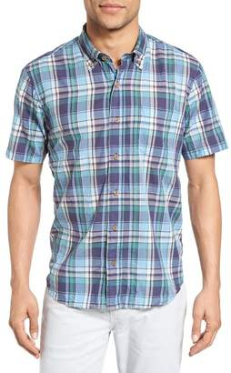 Tailor Vintage Crinkle Plaid Sport Shirt