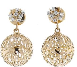 FEDERICA RETTORE Gorgonia Diamond Ball Earrings