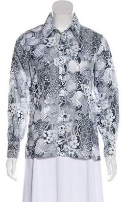 Givenchy Printed Button-Up Top