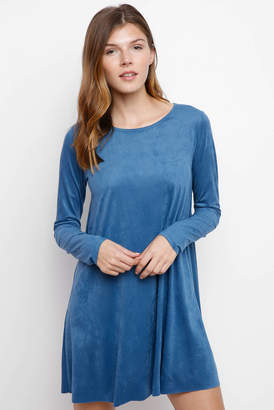 Abbeline Suede Long Sleeve Swing Dress