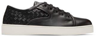 Bottega Veneta Black Classic Intrecciato Sneakers