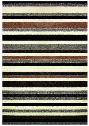 Linea Stripe Washable Rug - 100 x 66cm - Natural