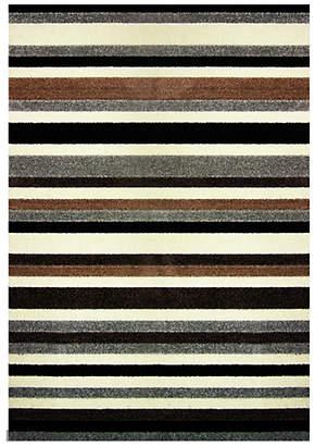 Linea Stripe Washable Rug - 100 x 66cm - Natural