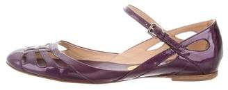 Tod's Patent Leather Ankle Strap Flats