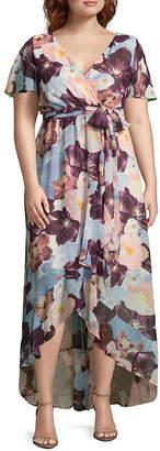 Melrose Short Sleeve Floral Maxi Dress - Plus