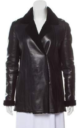 Narciso Rodriguez Leather Shearling Jacket