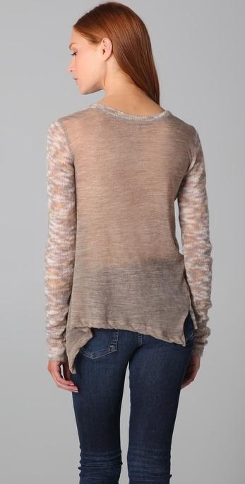 Wilt Tissue Shrunken Uneven Sweater