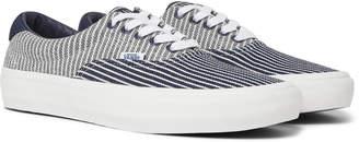 Vans 59 Lx Suede-Trimmed Striped Denim Sneakers