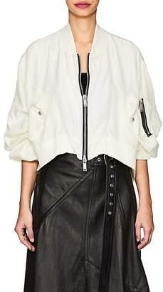 Ben Taverniti Unravel Project Women's Washed Silk Bomber Jacket