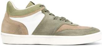 Leather Crown mid top sneakers