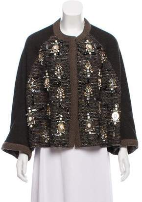 Biyan Drop-Shoulder Embellished Jacket