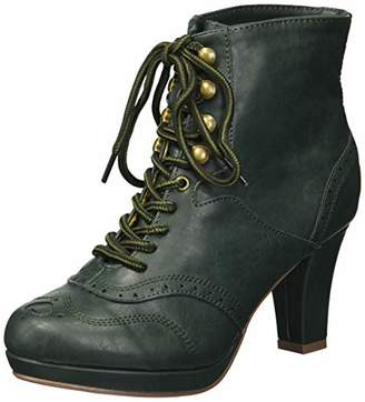 Bettie Page Women's BP303-ADAMAY Mid Calf Boot