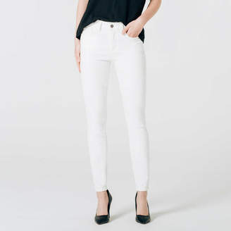 DSTLD High Waisted Skinny Jeans in White