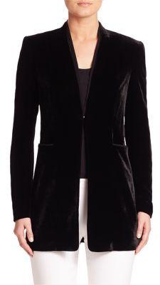 Elie Tahari Antoinette Velvet Blazer $478 thestylecure.com