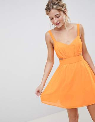 Asos DESIGN Cut Out Mini Dress With Cami Straps