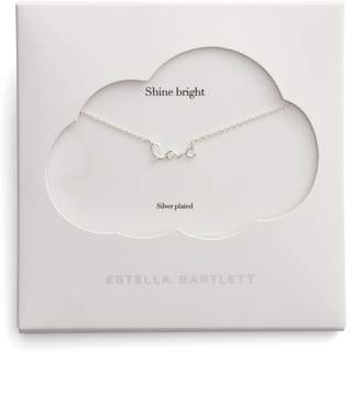 Estella Bartlett Shine Bright Love Script Necklace