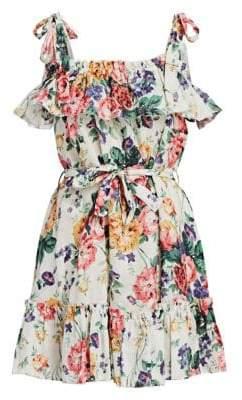 Zimmermann Allia Ruffle Trim Floral Mini Dress