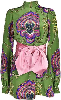 Gucci 70's Graphic Print Blouse