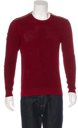 The Kooples Zip-Accented Rib Knit Sweater