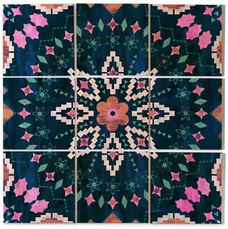 Deny Designs Schatzi Brown Aviana Mandala 9-Pc. Printed Wood Wall Mural