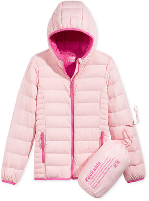32 Degrees Hooded Packable Down Jacket, Big Girls (7-16) $100 thestylecure.com