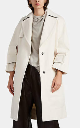 Narciso Rodriguez Women's Cutout-Detailed Cotton Twill Trench Coat - Natural