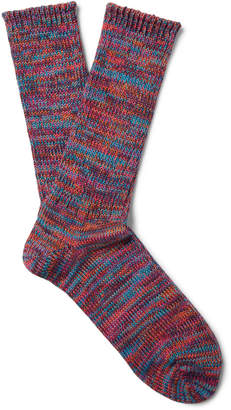 Anonymous Ism - Mélange Cotton-Blend Socks