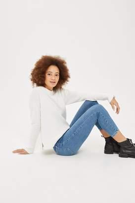 Topshop PETITE Contrast Stitch Joni Jeans